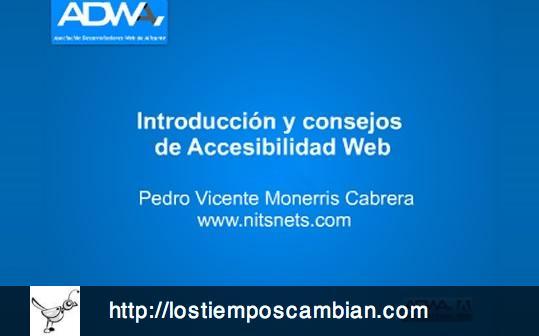 adwa introducción y consejos de accesibilidad web pedro monerris