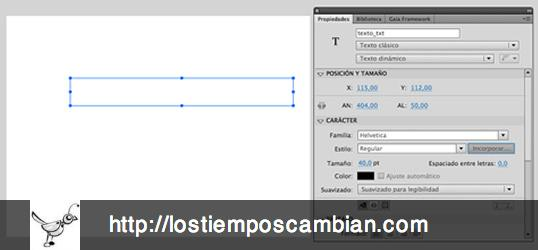 embed carácteres especiales idiomas en Flash