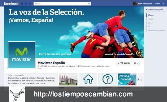 página corporativa Facebook Movistar