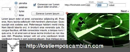 lorem ipsum placeholder maqueta web