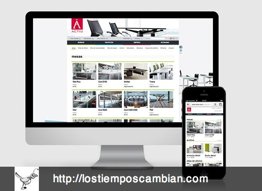 Actiu versión website y mobile
