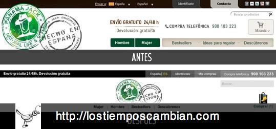 Cabecera Panama Jack ecommerce 2012-2013