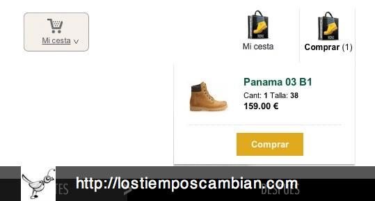 Carrito cesta de la compra Panama Jack ecommerce 2012-2013
