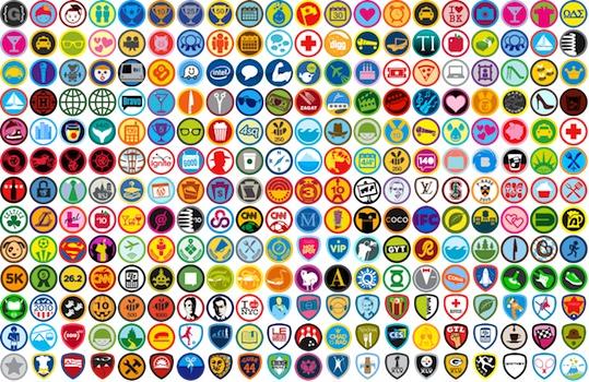 Gamificación: badges de FourSquare